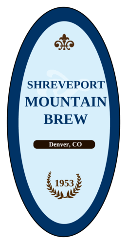 Mountain Brew Beer Label