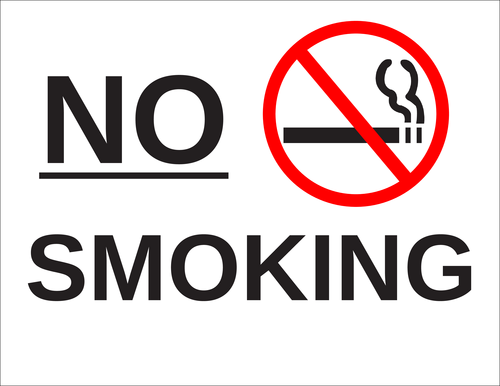 """No Smoking"" Label"