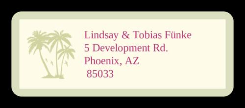 Paradise Wedding Address Label