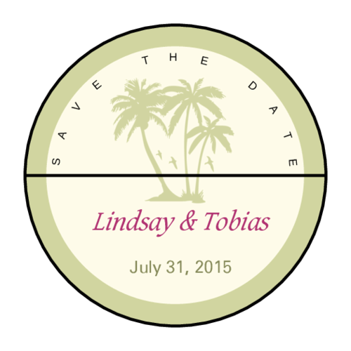 Tropical Paradise Wedding Envelope Seal
