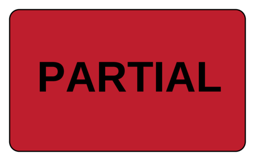 """Partial"" Pallet Shipping Label"