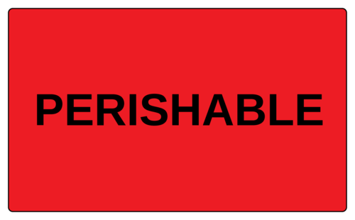 """Perishable"" Label"