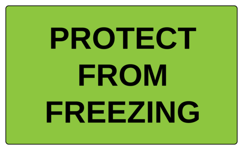 """Protect From Freezing"" Label"