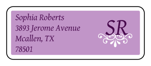 Purple Ornament Address Label