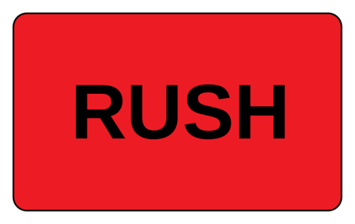 """Rush"" Shipping Label"