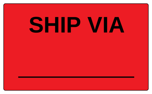 """Ship Via"" Label"