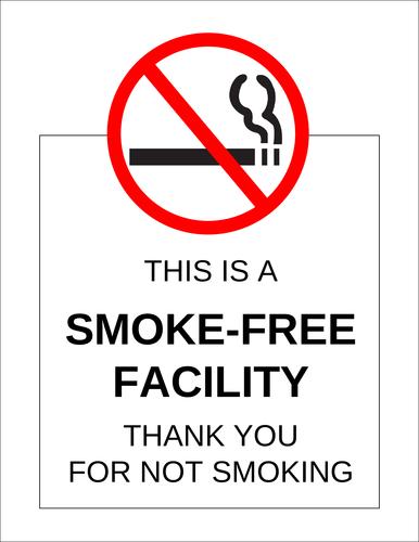 """Smoke-Free Facility"" Sign"