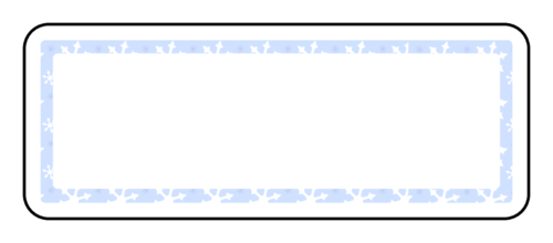 Snowflakes Border Address Label