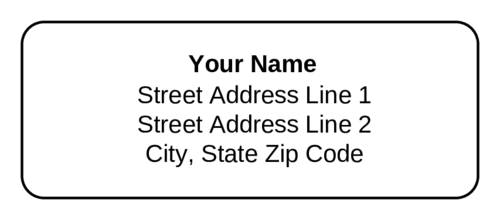 Standard Address Label