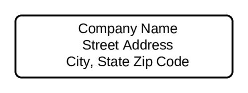 Standard Return Address Label
