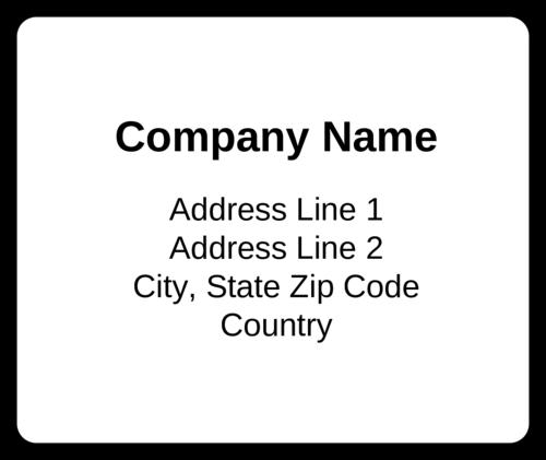 Standard Mailing Label
