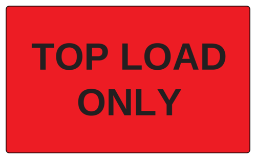 """Top Load Only"" Label"