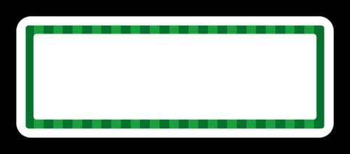 Watermelon Striped Border Address Label