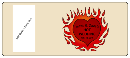 Hot Sauce Bottle Wedding Label