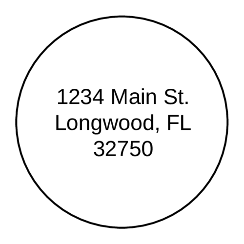 Circle Address Label