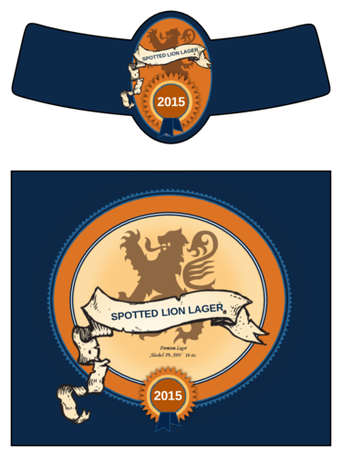 Spotted Lion Lager Beer Bottle Label