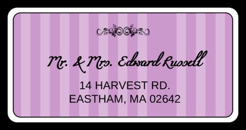 Filigree Stripes Address Label