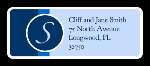 Blue Nautical Wedding Address Label