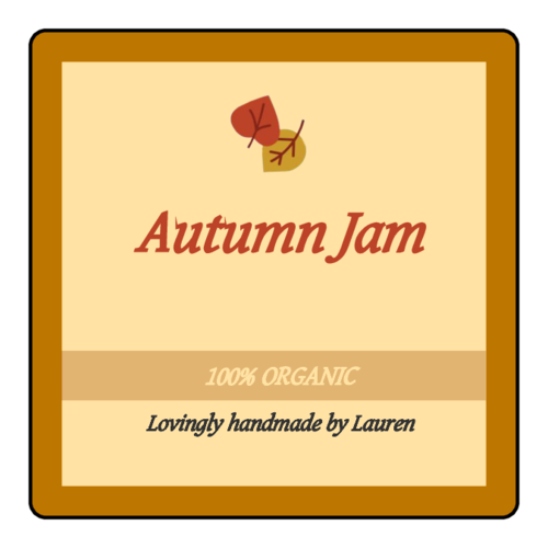 Autumn Thanksgiving Jam Jar Label