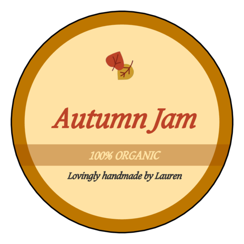 Autumn Jam Package Label