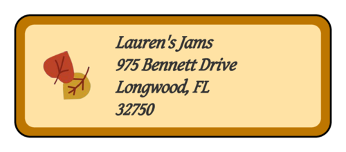 Simple Autumn Leaves Address Label