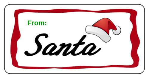 """From Santa"" Christmas Gift Tag"