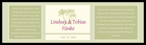 Tropical Paradise Wedding Water Bottle Label