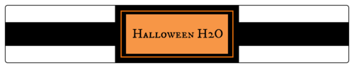 """Halloween H2O"" Water Bottle Label"