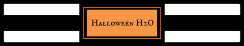 """Halloween H2O"" Water Bottle Label"