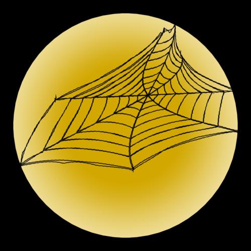 Halloween Spider Web Sticker