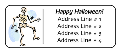 Halloween Skeleton Bones Label