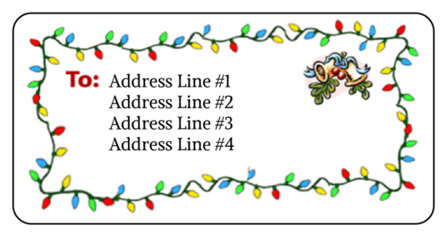Christmas Lights Mistletoe Address Label