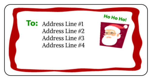 "Christmas Santa ""Ho Ho Ho"" Address Label"