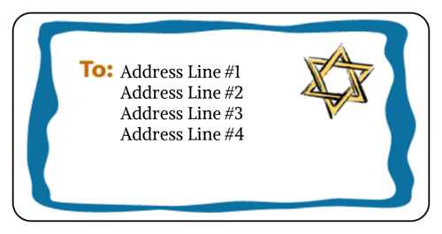 Hanukkah Star Of David Address Label