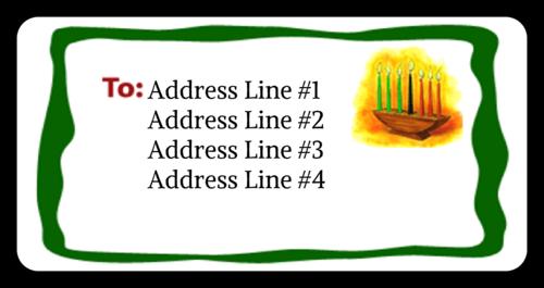 Kwanzaa Kinara Address Label