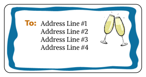New Year's Clinking Champagne Address Label