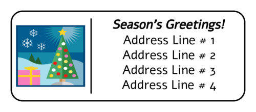 Christmas Tree with Gift Address Label