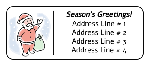 Christmas Santa Address Label