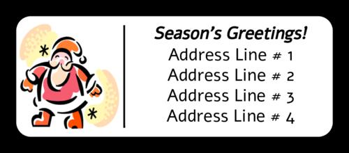 """Season's Greetings"" Santa Claus Christmas Address Label"