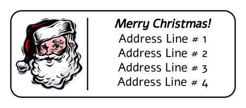 Santa Claus Address Label