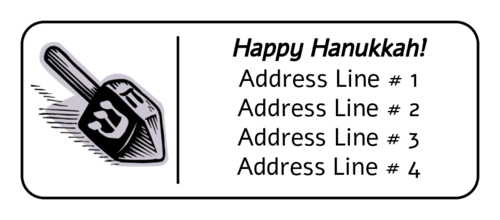 Hanukkah Dreidel Address Label