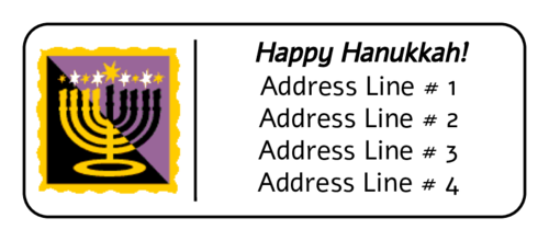 Menorah Address Label