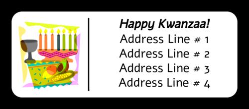 Kwanzaa Collage Address Label