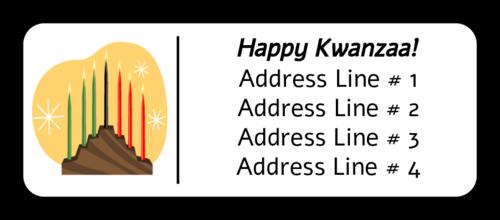 Kwanzaa Illustration Address Label