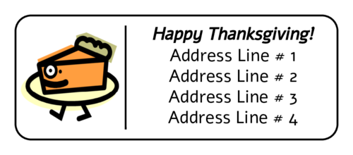 """Happy Thanksgiving"" Pie Address Label"