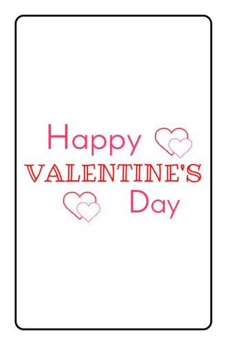 Happy Valentine's Day Chocolate Mini Candy Bar Label