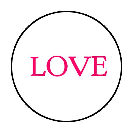 """Love"" Serif Font Label"