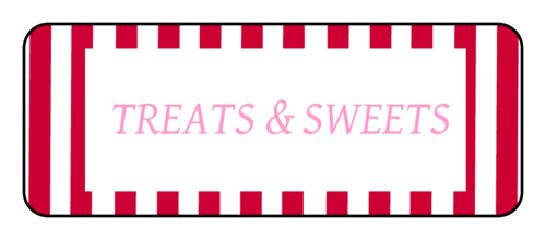 """Treats & Sweets"" Valentine's Day Gift Label"