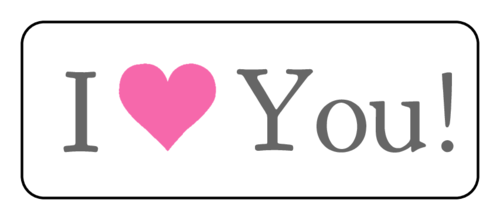 """I Love You!"" Label"