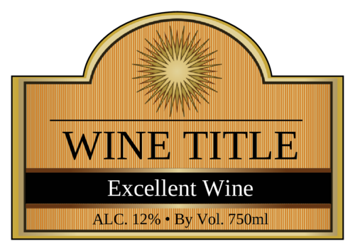 Solar Fire Wine Bottle Label